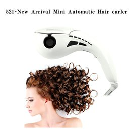 Wholesale Device Curl Hair - mini type curling device 2015 new brand hair care tool mini automatic curlers curling irons four type plug EU,UK,AU,UA 12pcs