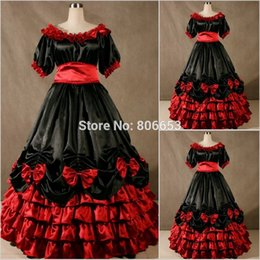 Wholesale Cheap Victorian Dresses Costumes - New Arrival Cheap Christmas Victorian Gothic Dress Civil War Southern Belle Gown Party Cosplay Costume CW015