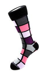 Wholesale Men Underwear Box - Socks for men Box Half knee leather shoe businessman Colorful dress socks cotton Men's socks underwear European size 8-12 Wholesale