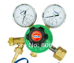 Wholesale Wholesale Gas Cylinder - Wholesale-Free Shipping 12pcs lot YQQ-09 hydrogen gas regulator gas cylinder regulator hydrogen pressure reducer with retail packing