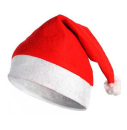 Wholesale Cotton Children S Hats - Santa Claus' hat Children adult Christmas hat Christmas accessory decoration High-grade Santa Claus hat Cute adults CH011