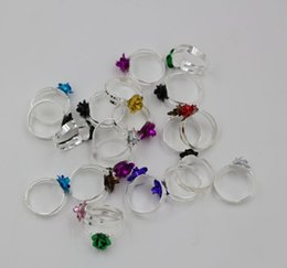 Wholesale Big Adjustable Rings - Hot Sales ! 100Pcs Plated Silver Adjustable Big Rose Flower Fresh Ring