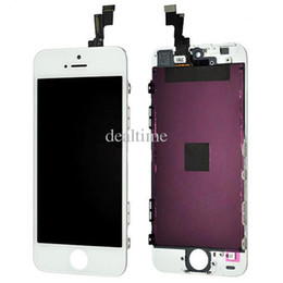 Wholesale Wholesale Cell Phones Lcd Screens - All Tested Quality LCD Digitizer iPhone5 Repair Part For iphone 5C LCD Glass Touch Screen For Cell Phone Parts 5G 5S