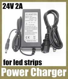 Canada adaptateur secteur adaptateur secteur chargeur dc adaptateur femelle prise adaptateur de fiche électrique DC 24V 2A à AC 100V-240V fit led bande lumière DY010 Offre