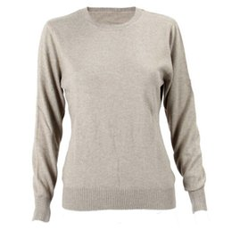 Wholesale Women S Cashmere Sweaters Wholesale - Wholesale- IMC Autumn Winter Women Long Sleeve O-Neck Kintted Cashmere Sweaters Pullovers