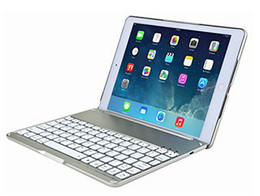Wholesale Aluminium Bluetooth Wireless Keyboard Case - Wireless Bluetooth Keyboard Ultra Slim Aluminium Folio Wireless Bluetooth Keyboard Carrying Stand Case Cover for Apple iPad Air 2 F8S