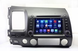 Wholesale Honda Dash Player - Android 5.1 Car DVD Player for Honda Civic 2006 2007 2008 2009 2010 2011 with GPS Navigation Radio BT USB WIFI Stereo