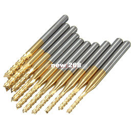 Wholesale Engraving Burrs - 2 Sets Lot 10pcs 1.5mm-3 175 Mm Carbide End Mill Engraving Bits for Cnc Rotary Burrs 3 End Mill Grinder Gear Milling Cutter 1