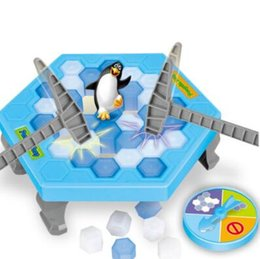Wholesale Puzzle Block Game - Save Penguin Knock Ice Block Interactive Family Game Penguin Trap Puzzle Table Games Balance I Broken Ice Cubes Puzzle Toys CCA8210 50pcs