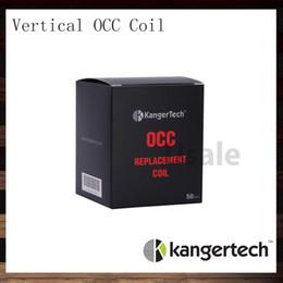 Bobina occ original on-line-Kanger Subtank Vertical OCC Bobinas V2 0.5 1.2 1.5 ohm Kangertech Subtank Bobina de Algodão Orgânico de Substituição OCC Bobina 100% Original