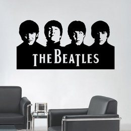 Wholesale Classic Room Design - Beatles Wall Art Decals Vinyl Wall Stickers Home Decor 29X57CM