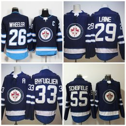 Wholesale M Mark - #29 Patrik Laine Winnipeg Jets 2017-2018 Season Newest 33 Dustin Byfuglien 26 Blake Wheeler 55 Mark Scheifele Hockey Jerseys