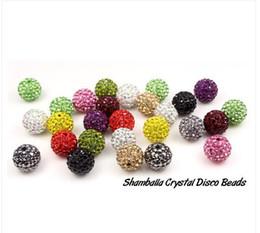 Wholesale Disco Drill Bracelets - SHAMBALLA 10MM CLAY CRYSTAL DISCO BALL BEADS TO MAKE SHAMBALA BRACELETS DRILLED FOR FREE SHIPPING