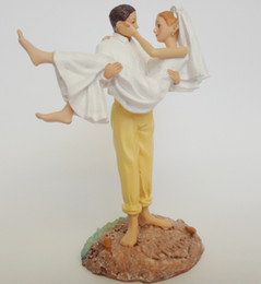 Wholesale Cheap Figurines - Wedding favor and decoration--Popular Just Married Beach Couple Figurine cheap cake decorations
