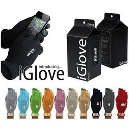 Wholesale Top Brand Bag Wholesale - top quality 10 colors retail bag Multi purpose Unisex iGlove Capacitive Screen Gloves For iPhone 6S iphone 6 HTC ipad iGloves Gloves D540