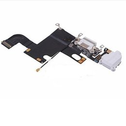 Wholesale Iphone 4s Charging Port Dock - Mix For iphone 6 5S 5 5C 4S 4 6G 5G Black Headphone Audio Charger Charging Port Dock Connector Ribbon Flex Cable iphone6 Replacement Gray