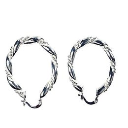 Wholesale Hoop Earrings Gold Twisted - Wholesale- Hot Twisted Loops Circle Earrings Earring Jewlery JW1281