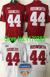 Wholesale Outlet Patch - Factory Outlet- Capital One Orange Bowl Patch #44 Brian Bosworth Football Jersey Oklahoma Sooners Jersey College Football Jersey Color Red W