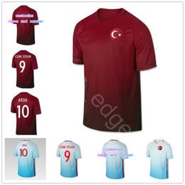 Wholesale Football Jersey 16 - Turkey Soccer Jersey 10 ARDA 8 INAN 9 TOSUN 16 TUFAN 15 TOPA 18 ERKIN 19 MALLI CALHANOGLU CAGLAR OZTEKIN Customize Football Shirt