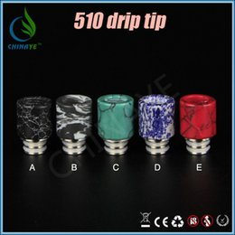 Wholesale Drip Tips Jade - 510 Jade Stainless Steel Drip Tip Ecigarettes for e cigs RDA Atomizers e cig vapes atomizer mouthpiece