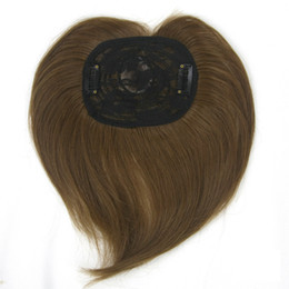 Wholesale Top Hair Hairpieces - 4 Colors Synthetic Hair Black Brown Toupees Hairpieces Hair Accessories Straight Top Hair Closures for Men and Women