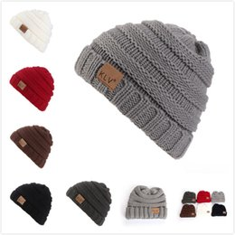 Wholesale Trendy Wholesale For Kids - Striped Knitted Hats Curling Design Wool Knitted Caps Six Colors Trendy Crochet Beanie For Baby Kids 8 5lz B