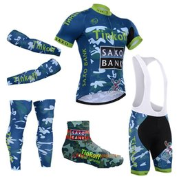 Wholesale Saxo Bank Leg - Hot 2015 cycling team Tinkoff saxo bank complete set pro cycling jersey bibs shorts with cycling leg warmers & arm warmer & shoes cover