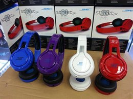 Wholesale Sms Street Headphones Wireless - SMS Audio Street by 50 Cent Wired On-Ear Headphones PC Foldable Mini Headset without Mic and Remote