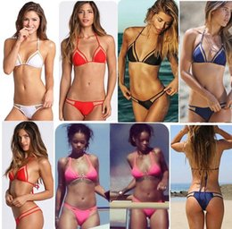 Wholesale Swimwear Mini Bikini - 2016 new triangular summer style sexy swimsuit swimwear micro mini bikini beach bandage Mesh bathing biquini for women brazilian
