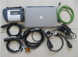 Wholesale Mb Star C4 Laptop - Promotion MB Star C4 full set five cables Newest 2017.07 DAS Xentry SSD for Mercedes Star Diagnostic Tool with D630 Laptop Multi-language