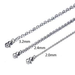 2020 o kettenhalskette rostfrei Edelstahl Silber O-Kette zur Herstellung von Schmuck Schmuck Kette Halskette Zubehör rabatt o kettenhalskette rostfrei