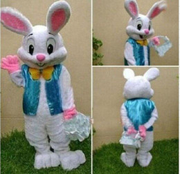 Wholesale High Quality Rabbit Costume - 2017 Sell Like Hot Professional Easter Bunny Mascot Costumes Rabbit Adult Free Shipping with high quality