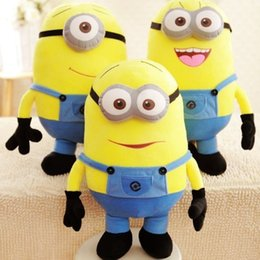 Wholesale Despicable Large Plush Toys - Big Size 20inch 50cm Minions 3D Despicable Me Eyes Yellow Large Minion Doll Plush Stuffed Toys For Children Christmas Birthday Gift 2016