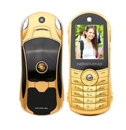 Wholesale Newmind F8 sbloccato russo tedesco francese spagnolo arabo Hindi torcia dual sim card modello di auto mini cellulare P215