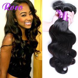 Wholesale Malaysia Human Hair Body Weave - Human Hair Weave Brazilian Virgin Hair Bundles Body Wave Hair Weaves Weft Cheap Hair Extensions Malaysia Peruvian Indian Double Weft 4PC 6A