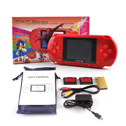 Wholesale Tv Game Player - PXP3 Slim Station Video Game Player 16bit Handheld Portable Game Console PXP 3 With AV Cable Game Card With Classic Games