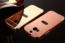 Wholesale Life Style Case - FOR HTC 10 Life style U PLAY U ultra DESIRE 10 PRO Mirror Luxury Metal Aluminum Bumper Frame PC Back Cover 50PCS LOT