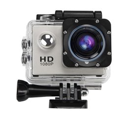 Wholesale Usa Angle - Ship from USA Waterproof HD Action Camera 12MP 1080P Full 170° Wide Angle Sports Camera 4 x Digital Zoom with 2 Batteries