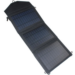 Wholesale Solar Universal Charger Mp3 - Portable Phone Charger Universal 10W Solar Panel Power USB Charger for iPhone Samsung Smartphones Foldablev 800797
