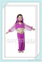Wholesale Theatrical Dresses - Wholesale-wholesale Arabian princess dress Children's Day Halloween Cosplay Clothing Children Theatrical Costume Female