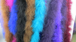 Wholesale Wholesale Clothing Turkey - High Quality Thick 2M Strip Dress Feather Fabrics Accessories Turkey Feathers Real Feather Boa Party Supplies Clothing Accessories DIY Dec.