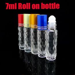 Wholesale 7ml Perfume - sales 7ml roll on perfume bottles glass empty small perfume refillable bottle