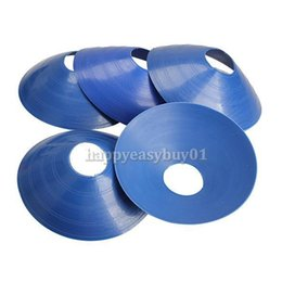 Wholesale Space Markers - 5pcs Space Cones Marker Discs Soccer Football Training Sports Saucer Blue PTSP