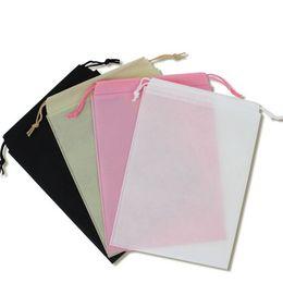 Wholesale Pc Vaccum - Wholesale- 1 Pcs Thick Non-Woven Laundry Shoe Bag Travel Pouch Storage Portable Tote Drawstring Storage Bag Organizer Covers