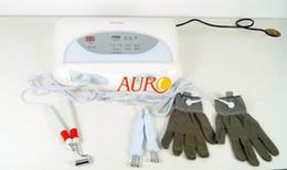 Máquina galvanica de cara online-Galvanic micro current glove BIO lifting facial blanqueamiento eliminación de arrugas máquina de belleza con aprobación CE Au-8403