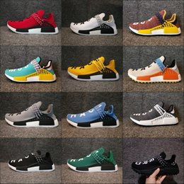 Wholesale Mens Gym Tops - 2018 Adidas Originals NMD Human Race New Arrival Mens Women Running Shoes Boost Cheap Top Quality Lightweight Sport Sneakers US 5-12