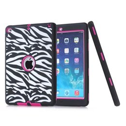 Wholesale Polka Dot Hybrid Case - Polka Dot Zebra Wave Heavy Shoockproof Hybrid Case For iPad 2 3 4   Air 5   Air2 6 Laser Hard PC Soft Silicone Duty Skin Cover 100pcs