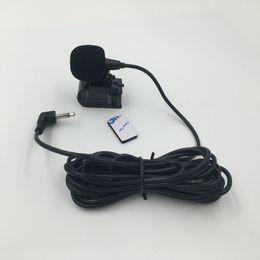 3-метровый игрок онлайн-3,5 мм внешний микрофон микрофон для автомобильного DVD радио ноутбука стерео плеер HeadUnit кабель 3 м с U-образной крепежной клипсой