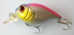 frog lure spinner Desconto Crankbait 8 CM-15G-6 # Ganchos Equipamento De Pesca Iscas Artificiais Isca De Manivela Isca De Pesca Peixe Pesca proteína wobbler plástico rígido isca