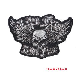 Wholesale Motorcycle Customs - Iron On Patches Mix Embroidered Fabric Patches For Motorcycle Badges Custom Embroided Patch 2015 New Hot Sale